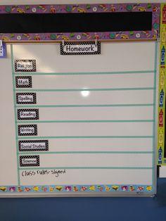 homework board pinterest