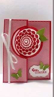 Stampin' Up Five Way Flower Circle Thinlits Card die---