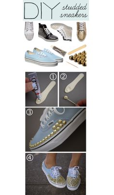 """""""DIY: Studded Sneakers"""" by polyvore-editorial on Polyvore"""