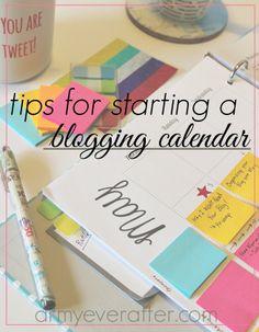 Tips for Starting a Blogging Calendar
