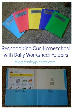 Reorganizing Our Homeschool with Daily Worksheet Folders