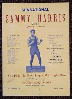 boxing, poster, vintage