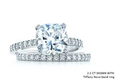 Tiffany Novo cushion cut 2.5 ct. diamond engagement ring