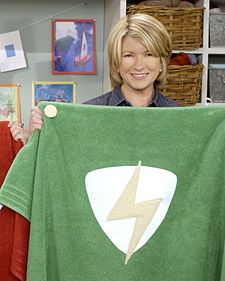 Martha Stewart Superhero towel