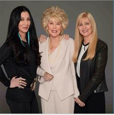 Cher with her mother and sister