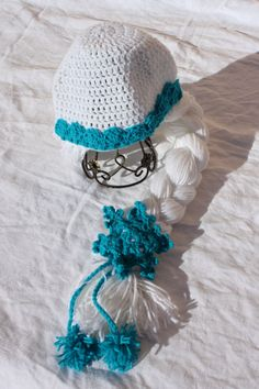 Handmade crochet Princess Elsa inspired hat from Frozen snowflakes and a long thick braid. Disney inspired hat.