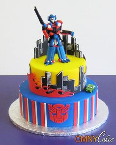 Transformers Birthday Cake...Luke will be so excited!!