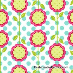 Fabric... Andalucia Mod Blooms in White by Patty Young