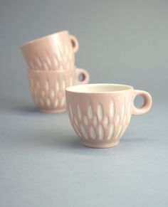 Ceramic stoneware cup coffee tea espresso - unique handmade serving decorative textured kitchen pottery morning coffee - ecru pink