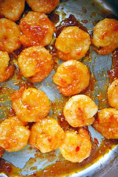 Sweet and Sour Crackerjack Shrimp Recipe ~ Says: The shrimp were magic in a mouthful... A final toss in a blend of chili sauce, garlic, ginger and sugar will officially (and permanently) kick your carry-out menus to the curb.