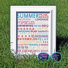 50 Summer Free Printables (parties, activities, subway arts and more)   Craftionary