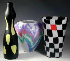 """bottiglia arsos"" - Alessandro Medini 1990 Black and yellow (others in shot)"