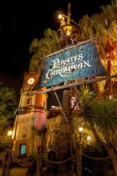 """Pirates of the Caribbean - attraction at Disney World....""""Yo Ho Yo Ho A Pirate's Life for Me"""""""