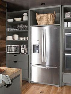 kitchen ... smart looking built-in fridge