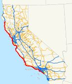 Map of Pacific Coast Highway