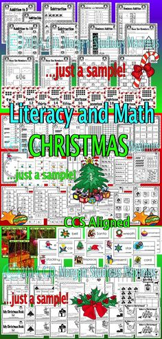 This product (105 pages) is aligned with Common Core Standards and offers many differentiated and interactive learning activities. All your students will be engaged and have fun while learning important ELA and Math academic concepts. #Christmasliteracy #Christmasmath #Christmas ##literacy #math #commoncore