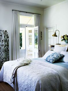 Bedroom; white and b