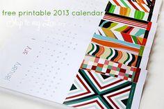 free 2013 printable calendar