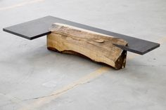 natural wood table or bench