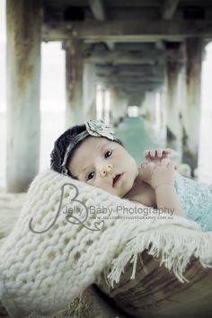 www.jellybabyphotography.com.au    Newborn outdoor beach shoot