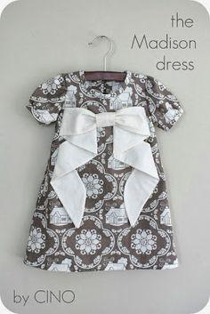 Patrón y tutorial: vestido de niña con lazo - contra la crisis yo elijo...COSER