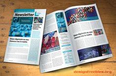 Free InDesign newsletter template: Design no. 2