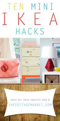 Ten Mini Ikea Hacks - The Cottage Market #IKEAHack, #MiniIKEAHacks, #IKEAHack, #Quic&EasyIKEAHacks, #IKEA, #IKEADIY, #IKEAProjects