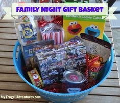 Movie Family Night gift basket
