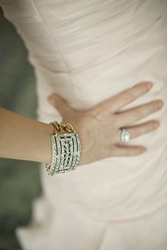 Bride's Jewelry ~ Custom made from her grandmother's vintage shoe clips! Photography by harwellphotograph...