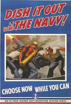 Dish it out with the navy WWII