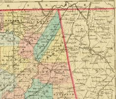 Sept. 12, 1863: James continued to write about his movements during the Chickamauga Campaign. Gen. William S. Rosecrans's Army of the Cumberland was spread out between Chattanooga and Alpine, while Gen. Braxton Bragg concentrated his forces at Lafayette, Georgia. Section of map of Alabama. From Colton, George W. Colton's Atlas of the World Illustrating Physical and Political Geography. New York: J.H. Colton and Company, 1856. Missouri History Museum. http://historyhappenshere.org/archives/7443