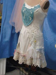 Upcycled Satin Slip Dress