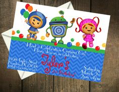 Team Umizoomi Birthday Party Printable Invitation. $5.00, via Etsy.