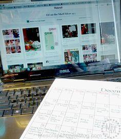 Blank December Calendar for recording Elf on the Shelf Ideas