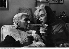 Carl Sandburg and Marilyn Monroe by Arnold Newman