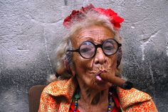 Cigar smoking Havana granny