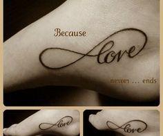 tattoo ideas, feet tattoos, infinity signs, infinity tattoos, font, a tattoo, white ink, new tattoos, heart tattoos