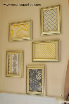 Framed scrapbook paper - the perfect touch for little to no money.