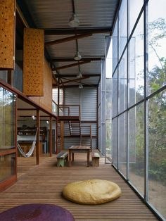 bringing the outside inside the house. R.R. House, Sao Paulo, by Andrade Morettin Arquitetos.