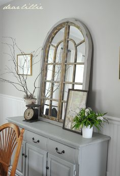 Great neutrals in the dining room by Dear Lillie