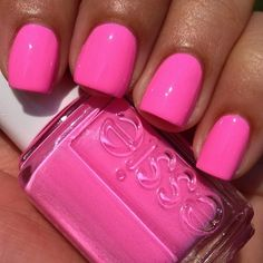 "Essie - ""Boom Boom Room"", Summer 2013 Neon Collection. Cute for summers tanned skin!"