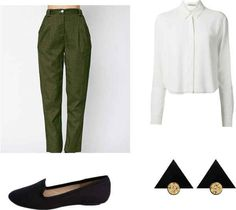 May a lady's trousers always be pleated. | 11 Easy And Comfortable Back To School Outfits