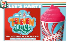 It's 7/11! That means FREE slurpees at 7-11 from 11:00-7:00! What's your favorite flavor?
