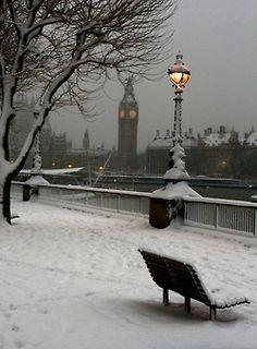 London.England. winter snow, england, london, dream, travel, big ben, place, christma, the holiday