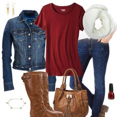 Cute Jean Jacket  Jeans Outfit