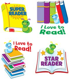 Reward,motivate and celebrate your students' reading accomplishments with Reading temporary tattoos. These non-toxic temporary tattoos are a fun and exciting way for students to express their creativity and individuality! Perfect way to encourage reluctant readers and motivate goals!  Ideal for prizes in games and activities as well as giveaways for classroom celebration!  Includes 4 designs, 6 sheets for a total of 24 tattoos. student, temporari tattoo