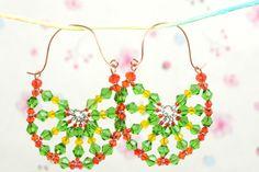 Free DIY Tutorial ~ Beaded Lemon Hoop Earrings Tutorial featured in Sova-Enterprises.com Newsletter!