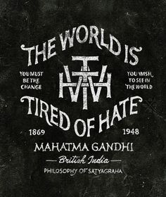 the world is tired of hate // bmd design