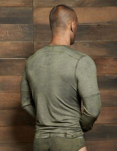 Filthy Long Sleeve Crew Neck: C-IN2 in Olive Fatigue: #CIN2 #CrewNeck #Longsleeve #Tshirt