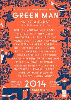 Green Man Festival 2014 poster